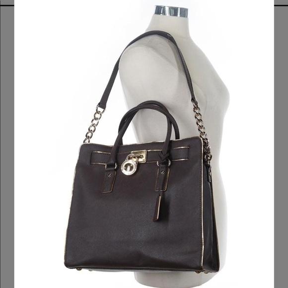 135ccc2e3d45 Michael Kors Bags | Hamilton Coffee Brown Leather Tote | Poshmark